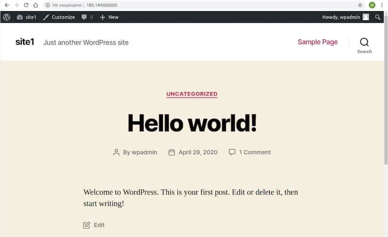 Install CMS WordPress on a Linux server